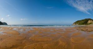 Panorama della spiaggia di Rodiles Fotografia Stock