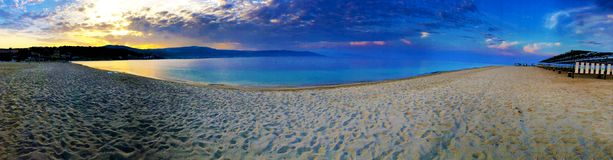 Panorama della spiaggia di Soverato. This picture represents the idea of beautiful, peacefulness, tranquility. Just seeing this photo, you can take off the bad royalty free stock images