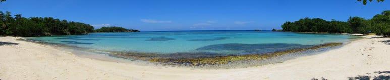 Panorama della spiaggia di Winnifred, Giamaica Fotografia Stock