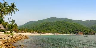 Panorama della spiaggia di Yelapa nel Messico Fotografia Stock Libera da Diritti