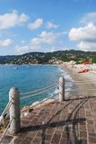 Panorama della spiaggia, Italia Fotografia Stock
