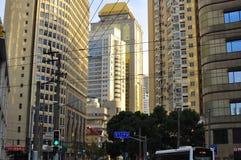Panorama della strada famosa di Nanchino a Shanghai Cina Immagini Stock