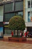 Panorama della strada famosa di Nanchino a Shanghai Cina Immagine Stock