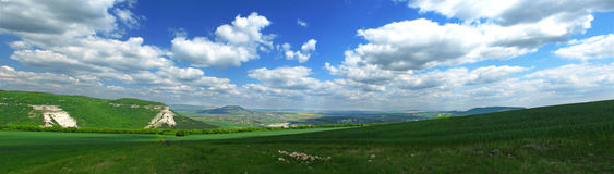 Panorama della valle. Immagine Stock Libera da Diritti