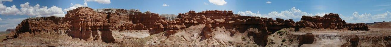 Panorama della valle del Goblin Immagini Stock Libere da Diritti