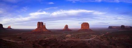 Panorama della valle del monumento Fotografia Stock