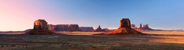 Panorama della valle del monumento dal punto dell'artista Immagine Stock Libera da Diritti