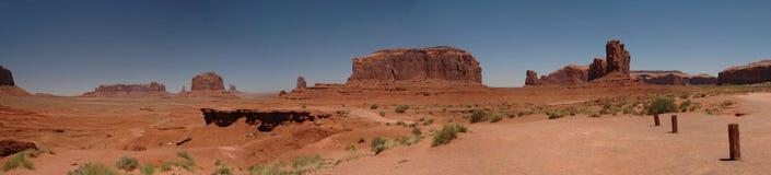 Panorama della valle del monumento del punto del John Ford Immagini Stock