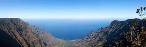 Panorama della valle di Kalalua Fotografia Stock Libera da Diritti