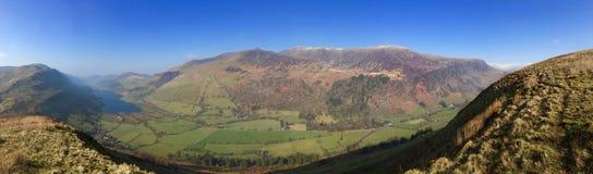 Panorama della valle di Lingua gallese Fotografia Stock Libera da Diritti