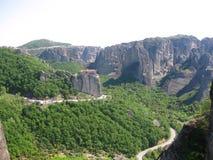 Panorama della valle di Meteora - immagine di riserva Fotografie Stock Libere da Diritti