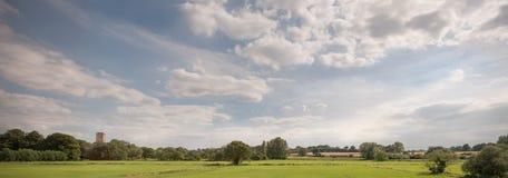 Panorama della valle di Tiffey fotografia stock libera da diritti
