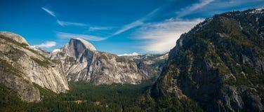 Panorama della valle di Yosemite Fotografia Stock