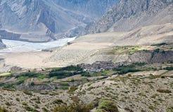 Panorama della valle nella regione del mustang, Nepal di Kali Gandaki Fotografia Stock Libera da Diritti