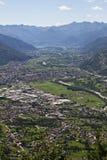 Panorama della Valtellina - Italia Fotografie Stock