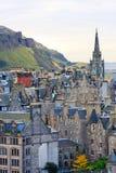 Panorama della via di Edimburgo Immagini Stock