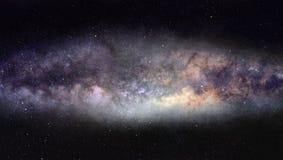 Panorama della Via Lattea Fotografie Stock Libere da Diritti