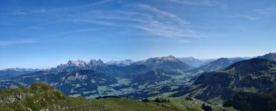 Panorama delle alpi Fotografie Stock Libere da Diritti