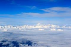 Panorama delle alpi della montagna con il Cervino e Mont Blanc Fotografia Stock