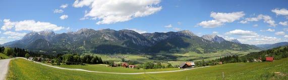 Panorama delle alpi di Autrian Fotografia Stock Libera da Diritti