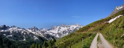 Panorama delle alpi di Oetztal Immagini Stock