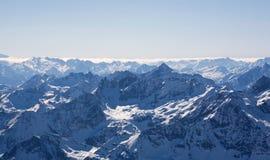 Panorama delle alpi di Swizz. Fotografie Stock