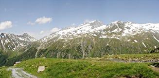 Panorama delle alpi di Zillertal Immagini Stock