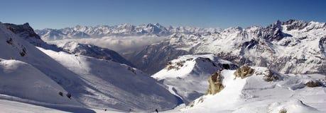 Panorama delle alpi, Italia Immagine Stock