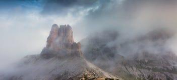 Panorama delle alpi italiane Montagne delle dolomia, Italia, Europa Fotografie Stock Libere da Diritti