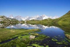 Panorama delle alpi nei laghi window in Svizzera Fotografie Stock
