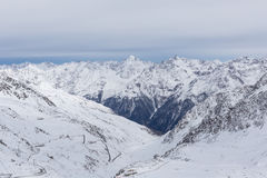 Panorama delle alpi a Solden, Austria Immagine Stock