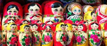 Panorama delle bambole di Matryoshka Fotografie Stock Libere da Diritti