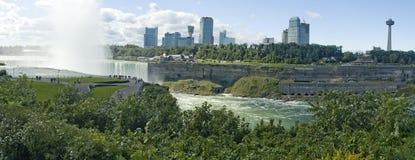 Panorama delle cascate del Niagara immagine stock
