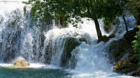 Panorama delle cascate di Krka Immagine Stock Libera da Diritti