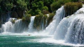 Panorama delle cascate di Krka Immagine Stock