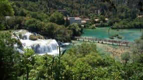 Panorama delle cascate di Krka Fotografia Stock Libera da Diritti