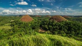 Panorama delle colline del cioccolato Bohol, Filippine 4K TimeLapse - agosto 2016, Bohol, Panglao, Filippine archivi video
