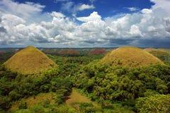 Panorama delle colline del cioccolato di Bohol fotografia stock libera da diritti