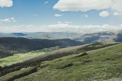 Panorama delle colline di Rocky Mountains Stato di Colorado Fotografie Stock Libere da Diritti