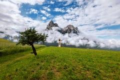 Panorama delle dolomia di estate Fotografie Stock Libere da Diritti