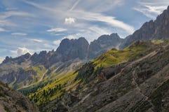 Panorama delle dolomia italiane Fotografie Stock