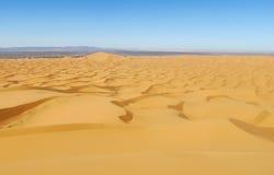 Panorama delle dune del deserto della sabbia Fotografia Stock Libera da Diritti