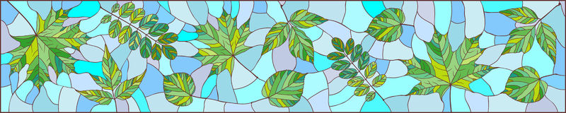 Panorama delle foglie verdi Fotografia Stock Libera da Diritti