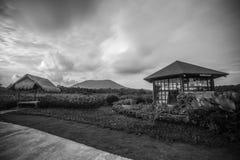 Panorama delle foto di BlackWhite dell'isola bintan meravigliosa di batam fotografia stock libera da diritti