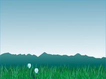 Panorama delle montagne illustrazione vettoriale