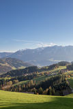 Panorama delle montagne in alpi europee, Austria Fotografia Stock