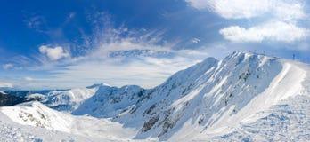 Panorama delle montagne basse di Tatras, Slovacchia di inverno Immagine Stock Libera da Diritti