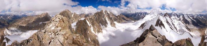 Panorama delle montagne caucasiche - 360 Immagine Stock Libera da Diritti