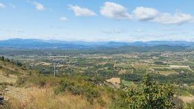 Panorama delle montagne di Ardeche Fotografia Stock Libera da Diritti