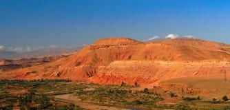 Panorama delle montagne di atlante Fotografia Stock